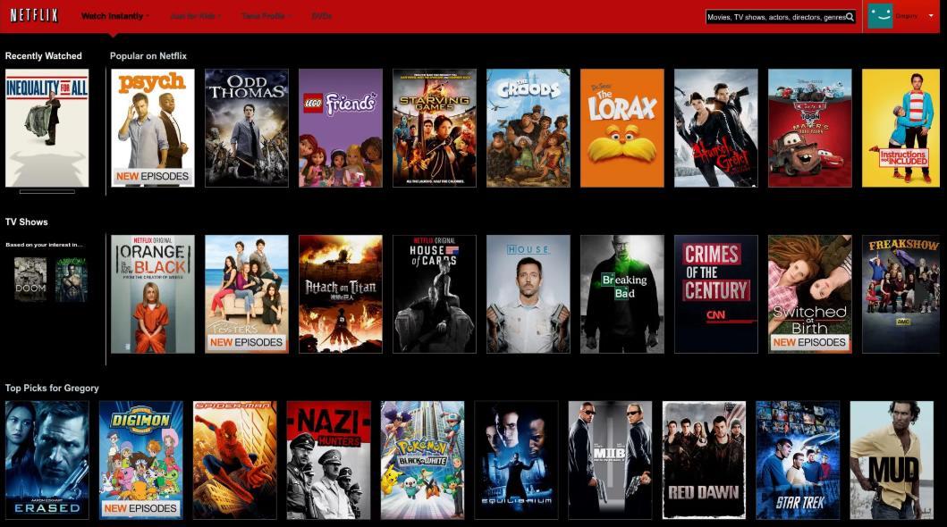 Netflix онлайн-кинотеатр