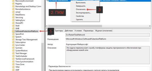 Отключение службы защиты программного обеспечения sppsvc.exe