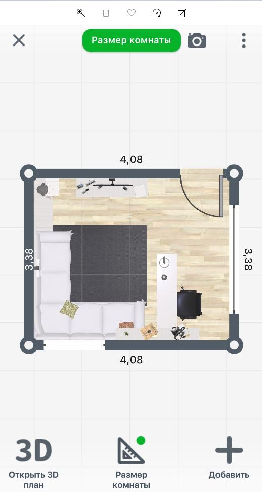 Планировка квартиры - 2D визуализация