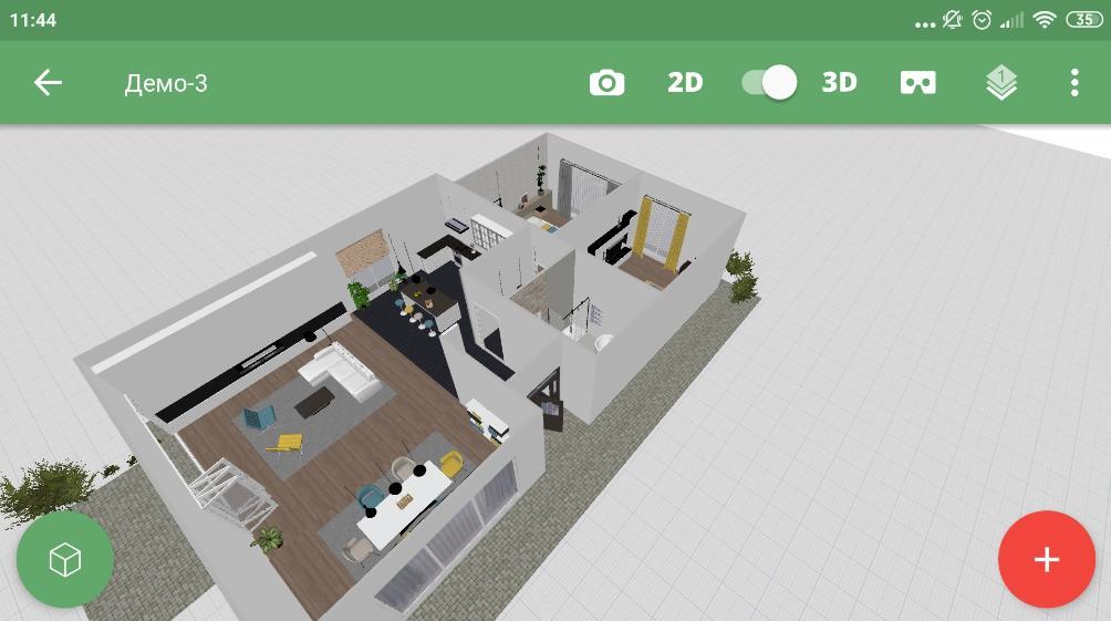 Planner 5D - программа для Android для дизайна домов и квартир