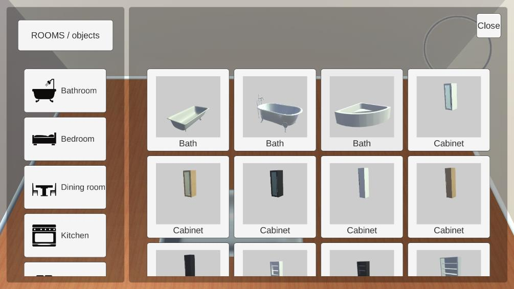 Room Creator добавить объекты