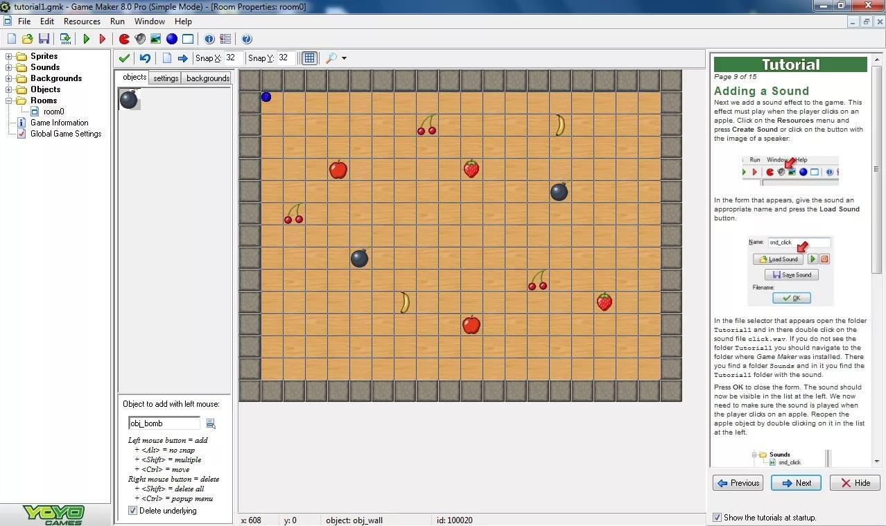 Движок для создания игр на Android - Game Maker