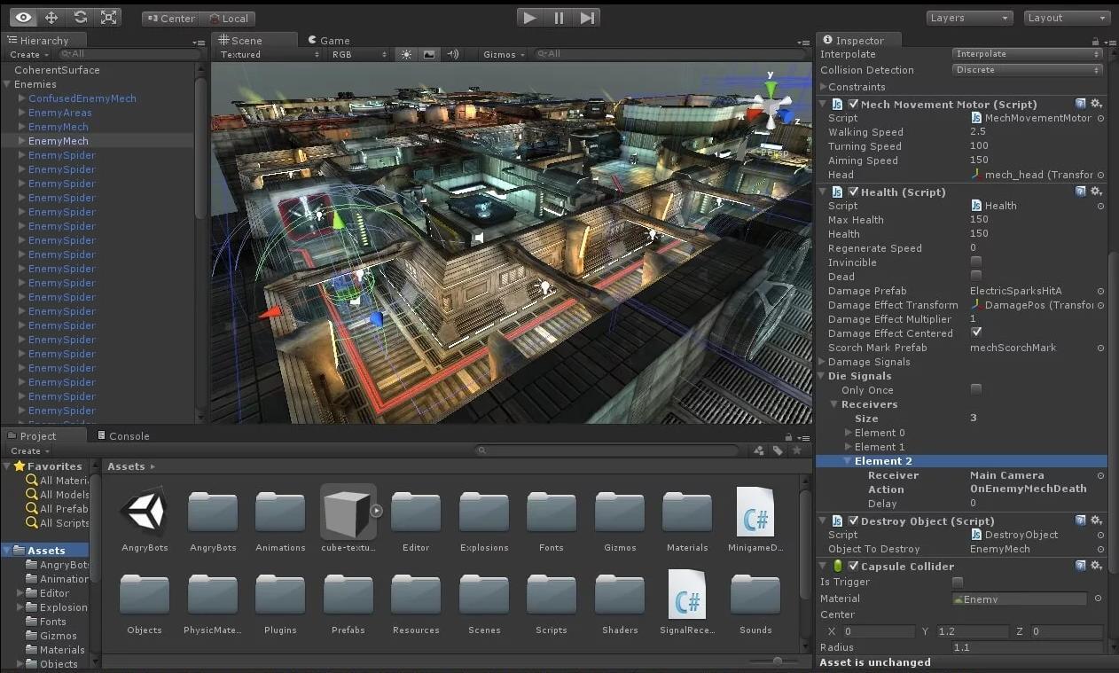 Программа для создания игр на Android - Unity 3D