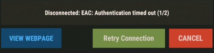 Ошибка Disconnected- EAC- Authentication timed out (1-2) в Rust