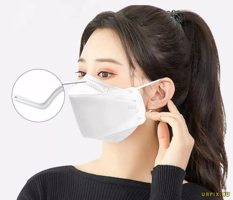Носовой фиксатор в медицинской маске - проволока
