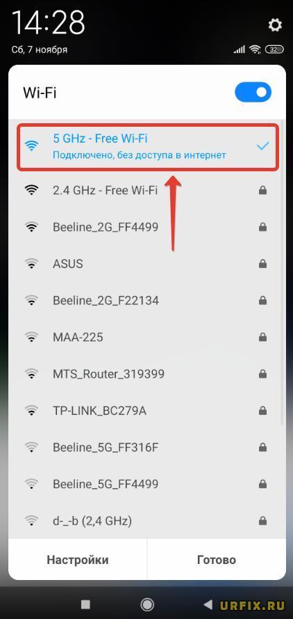Подключено, без доступа в Интернет - телефон Android