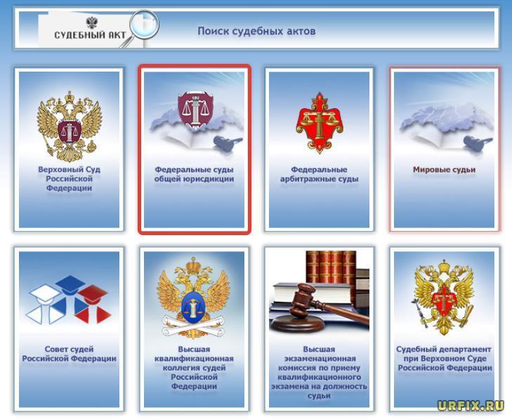 Федеральные суды общей юрисдикции - раздел