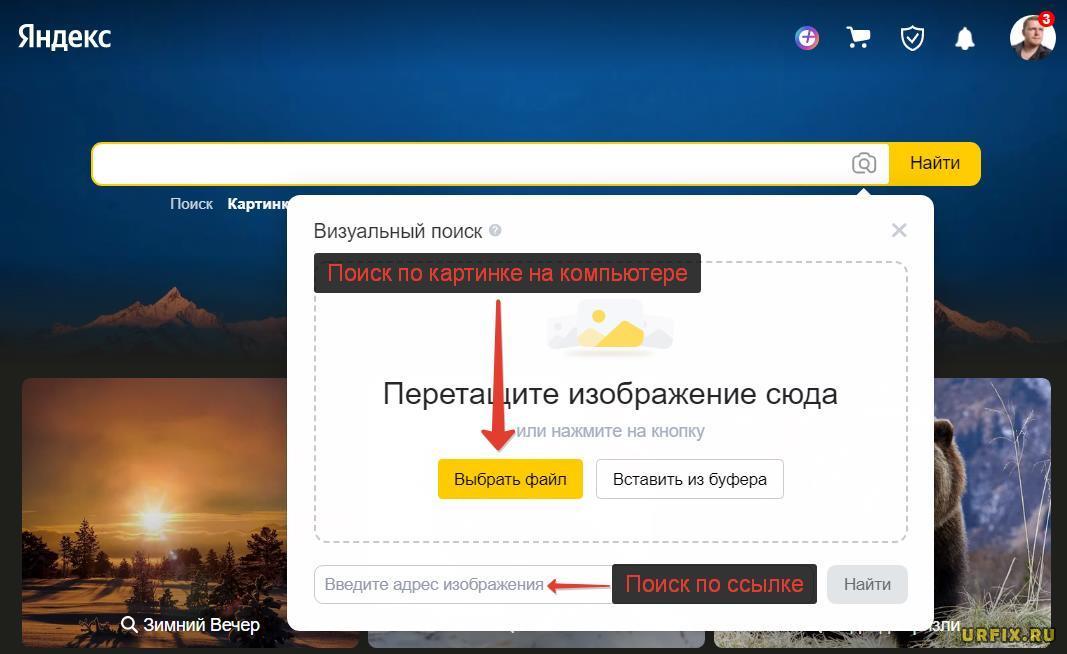 Поиск по картинке Яндекс с ПК или по ссылке