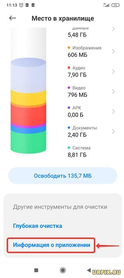 Информация о приложении Android